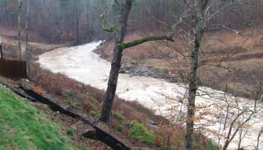 creek overflowing