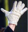 Jackson's white, crystal-beaded glove worn during
