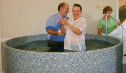Donna Rochelle after baptism