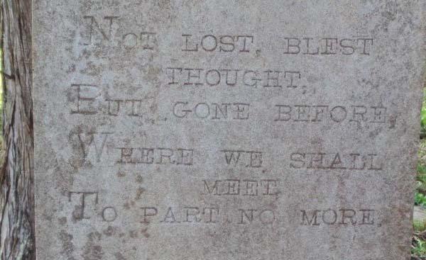 slavery grave head stone