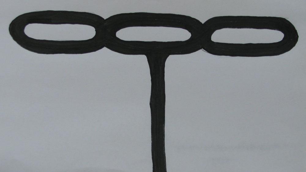 slavery chain cross burial marker