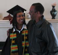Amber with her father